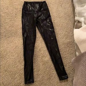 Fabletics leggings -they have a cute leather look